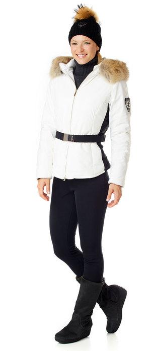 Ladies White Ski jacket with fur