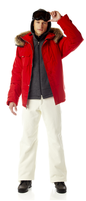 Men's ski jacket with fur trim.  Made in the USA.