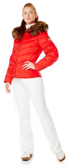 Ladies Red Down Ski Parka
