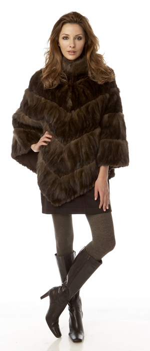 Russian Sable Poncho.  Made in the USA