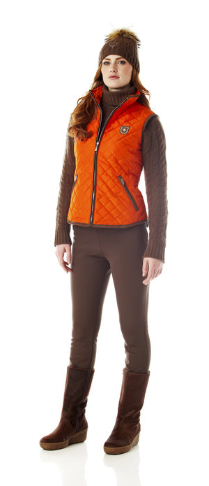 Women's quilted thinsulate vest.  Made in the USA
