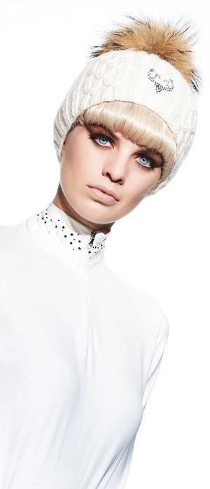 Cashmere Swarovski Fur Hat