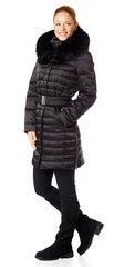 Women's down coat with fur trim