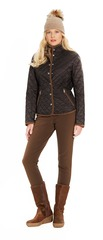 Thinsulate quilted barn jacket with Ultrasuede