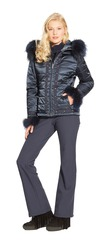 women's thinsulate quilted fur trimmed parka